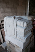 Bench end carved in stone